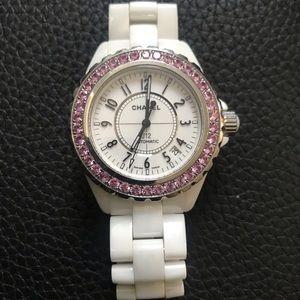 Chanel Women's J12 Pink diamond watch